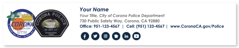 Police Email Signature