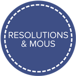 resolutions & mous